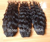"Brazilian Virgin Human Hair Extension Natural Curly Wave Hair Welf  12""-24""  95-100g 1Pcs/lot Free Shipping"