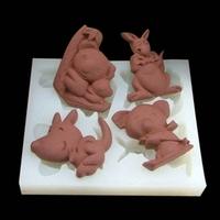 free shipping 1pcs Koala and Kangaroo shape Muffin case Candy Jelly Ice cake soap Chocolate Silicone Mould Mold
