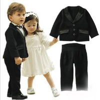 free shipping 2012 autumn clothing male child set flower girl formal dress suit infant suit baby suit