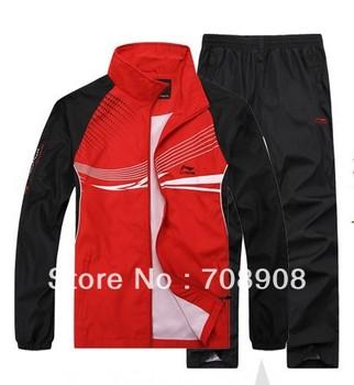 Free Shipping+Low Price Men's Sportswear Set,Li-Ning Brand SportsSuits for Men,Long Sleeve High Quality
