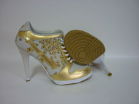 Free Shipping !2014 new  High Heel sport Shoes Design with Tag Women  and high heels boot  eur size :36-41  gold/slivery