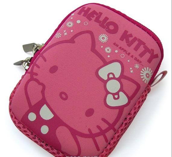 Hello Kitty cat protection mobile phone Hello Kitty digital camera bag bag.(China (Mainland))