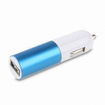 F04267 Mini Car Charger USB Auto Adapter lipstick design Mix color optional for iPhone iPod PDA digital camear GPS + Freeship(China (Mainland))