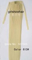 Ribbon ponytail,hair extensions ,Ponytail ,Straight HairPiece with Ribbon ,Ponytail Hairpiece ,Color 613 #,55cm