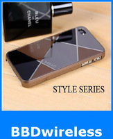Free Shipping Style Series Hard Case Cover For iPhone 4S 4 4G Screen Protector