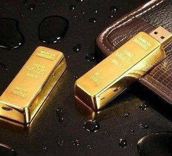 Gold Bar USB 2.0 Flash Memory Stick Drive Pen 4GB 8GB 16GB 32GB free shipping U15