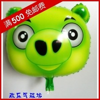 Min.order $19(mixed support) Christmas cute balloon 3  aluminum cartoon  space ball green  free shipping