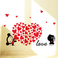 Pucca doll tv background wall sofa wall ofhead wall stickers