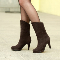 Two kinds of wear  new arrive fashion sexy Mid-Calf boots for women winter QY-109