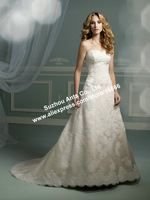 New Style Noble Vintage Lace Wedding Dress Sweetheart A-Line Lace Up of the Back WD1472