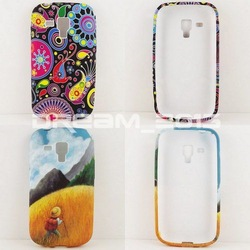 2012 Newest 2Pcs Child Mountaineer + Colorful Jellyfish TPU Gel Case Cover For samsung s7562 case(China (Mainland))