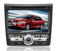NEW 8 Inch In Dash Car DVD Player For Honda City 2012 GPS Stereo Audio Video TV Bluetooth 6 CDC 3G free shipping