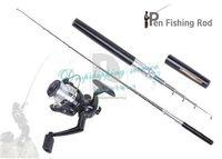 Fountain pen fishing rod pocket mini fishing tackle with fishing line wheel Hot Drop Shipping/Free Shipping