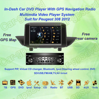 2012 Peugeot 308 Car DVD Player ,with GPS Navi,Multimedia Video Radio Player system+Free Camera+Free shipping!!!