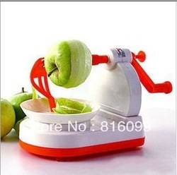4pcs/lot New and cute Convenient Plastic Apple peeler, Hot Sale kitchen assistant , wholsale and retail(China (Mainland))