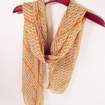 Long design velvet chiffon silk scarf