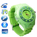 Mobile Phone Watch - Watch Phone For Kids with GPS Tracker Color Green,Unlocked Phones Bluetooth Handsfree GPS(China (Mainland))