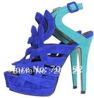 2012 Sandals 16cm platform high heels criss-cross strap leather dress shoe summer boots pumps