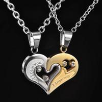 I LOVE YOU,heart stainless steel 316L( titanium steel ),pendant.fashion pendant