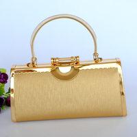 Gold women's handbag ktv dj bags partybag metal clutch bag
