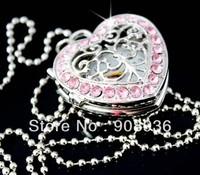 Fashion watches Classic Design! Heart Shape Artificial diamonds Necklace Pocket Watch