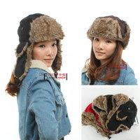 Hat female winter thickening male women's lei feng cap cotton cap ear protector cap the northeastern cap