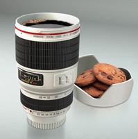 100% Original Design White Novelty Coffee mug AF-S 28-135mm Camera Lens Mug 400ML 1:1 Travel Mug CUP 20pcs/lot Free Shipping