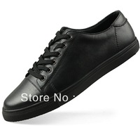 free shippiing The trend of fashion shoes leather men's skateboarding shoes genuine leather male casual shoes plus size 39-48