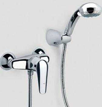 Copper faucet set belt shower head simple shower set belt sanitary ware bathroom item faucet
