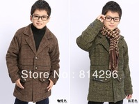 Free   shipping    The boy qiu dong clamp cotton warm case grain cotton-padded clothes coat coat