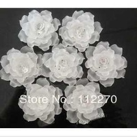 Free shipping 4.5cm 40Pcs/lot , white Resin flower Cameo Scrapbooking Embellishment phone DIY craft 002002 (39)