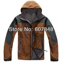 Mens Softshell Jackets Brand Fashion Outdoor Waterproof Windstopper Winbreaker Hiking Wear