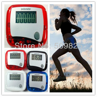 Electronic Digital LCD Step Run Pedometer Walking Distance Calorie Counter 5 colors 500pcs
