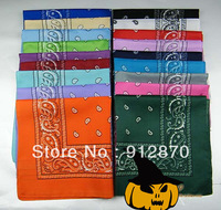 pure cotton square bandana scarf for hot sales variety colors bandana bib