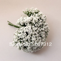 144pcs / lot  White  foam leeks flower  with wire stem/  decoration handmade flower  free shipping FE-38