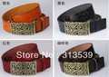 Fashion women&#39;s genuine leather strap casual female belt cutout buckle cowhide female strap belt