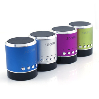 Ads63a cylindrical portable card speaker band fm card mini speaker small audio