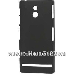 Black rubber cover for sony xperia p lt22i,hard matte case frost surface effect,wholesale price 500pcs/lot(China (Mainland))
