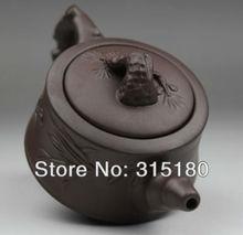 Promotion Free Shipping Purple Clay Plum Tea Pot Top Grade Purple Sand Teapot Zi Sha Tea