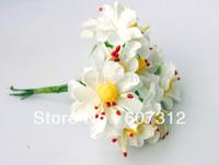 3.5cm 144pcs White Wedding Paper Flowers Home Decor Free Shipping PA-42