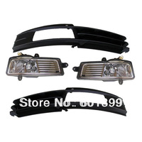 FOG LIGHTS LIGHT LAMPS & GRILLES SET FOR AUDI A6 C6 A6L 2008~2011