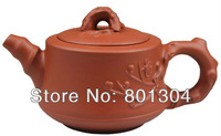 Special Offer! Purple Clay Red Plum Bamboo Tea Pot  Top Grade Zi Sha Teapot  Gift Ideal Free Shipping