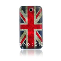 Retro UK Flag Battery Case Cover For Samsung Galaxy Note 2 II / N7100