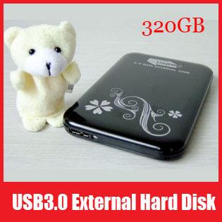 "Full Capacity External USB 3.0 2.5"" Pocket Size SATA Hard Drive 320G 320GB HDD External Disk, Free Shipping"