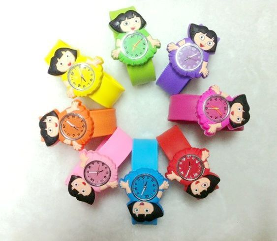 Child gift table dora ring pops jelly watches(China (Mainland))