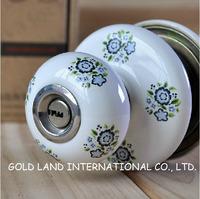 Free shipping 2pc/set ceramics cylindrical door lock / ball lock/knob lock