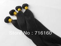 "12""-30"",free shipping,100% virgin brazilian human hair extension ,remy hair,natural straight,3pcs/lot,1b (95-100g/pc"