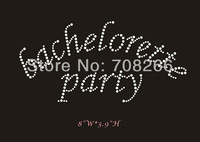 free shipping(DHL),40pcs/lot,iron on rhinestone transfer bachelorette party,custom designs are welcome