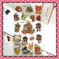 Rilakkuma  Gift Cartoon crystal sticker Kids tags Teaching poster wholesale