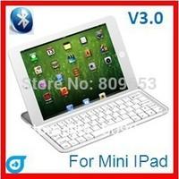 Wholesale Retail Package Aluminum Case wireless bluetooth keyboard for ipad MINI 10pcs/lot